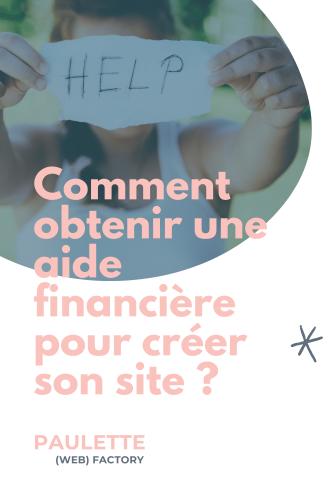 Aides financières site web